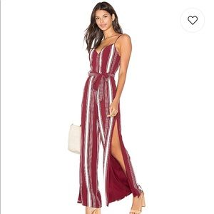 NWT Lovers + Friends Charisma Jumpsuit Cranberry